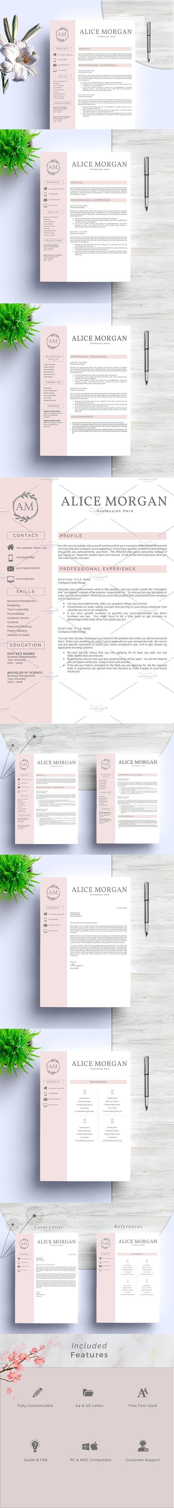 2 Pages Word Resume Template. Resume Templates