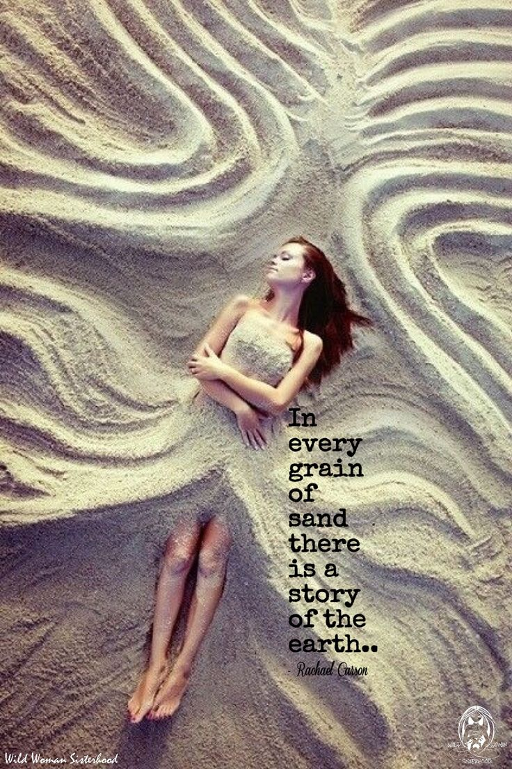 In every grain of sand there is a story of the earth.. -Rachael Carson- WILD…