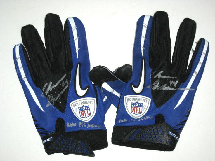 Chris Gronkowski Dallas Cowboys Game Worn & Signed Nike Gloves