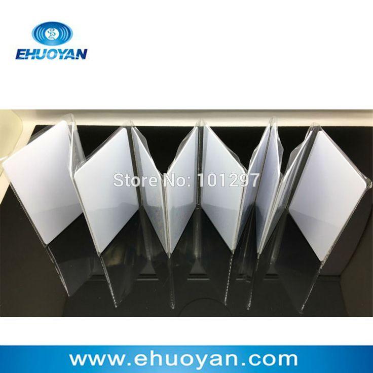 100 pcs/lot 13.56 Mhz ISO 14443A FM11RF08 1 K Octets Blanc PVC Cartes (Carte de soutien Imprimantes)