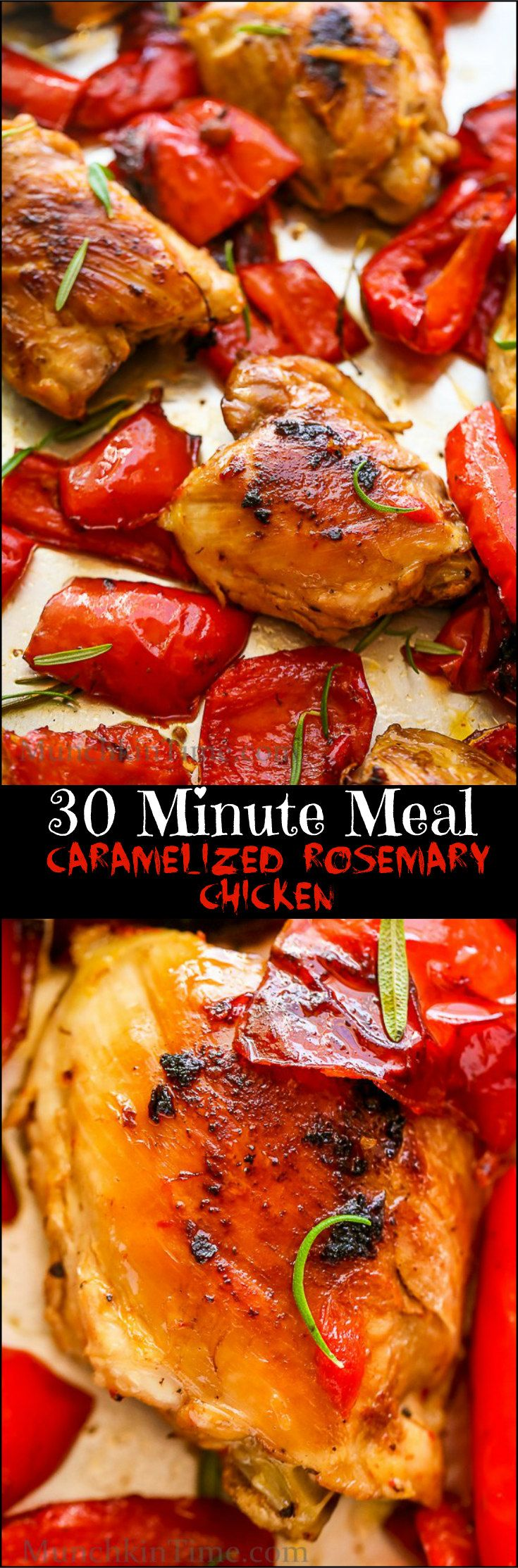 Caramelized Rosemary Chicken Recipe – delicious dinner ready in just 30-minutes.