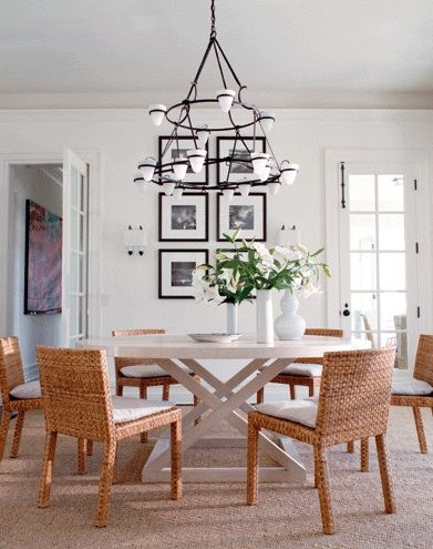 Hamptons interior design style beautiful now for Dining room tables victoria bc