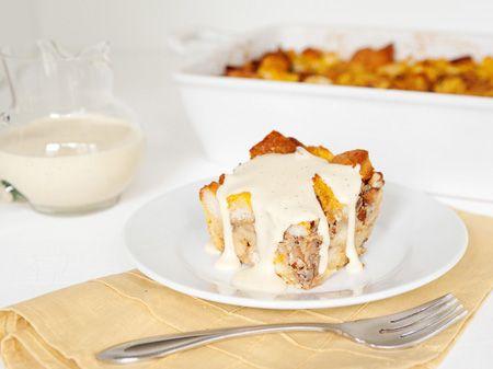Bourbon Pumpkin Bread Pudding