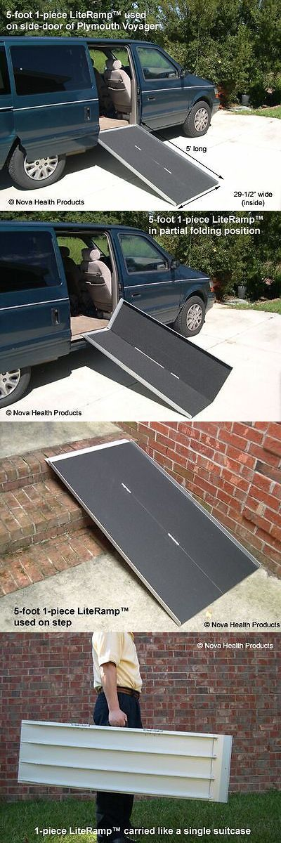 Access Ramps: 5 Wheelchair Ramp | Scooter Ramp | Literamp Portable Handicap Ramps BUY IT NOW ONLY: $179.0