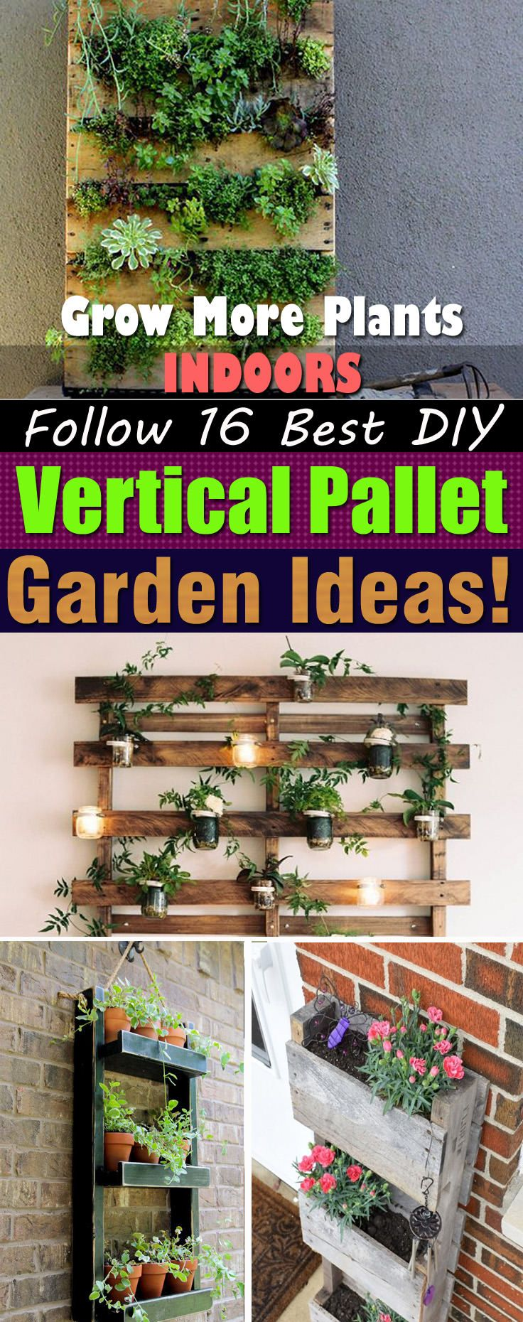 With these Vertical Indoor Pallet Garden Ideas here, not only you'll be able to save money but also create more space for growing plants!