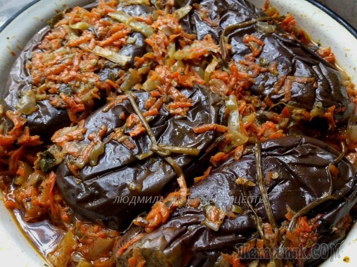 Квашеные баклажаны с острой начинкой - мировая закуска