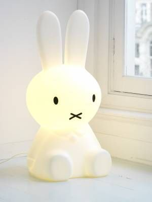 bunny lamp - nothing better to chase away nighttime monsters than an adorable bunny lamp!