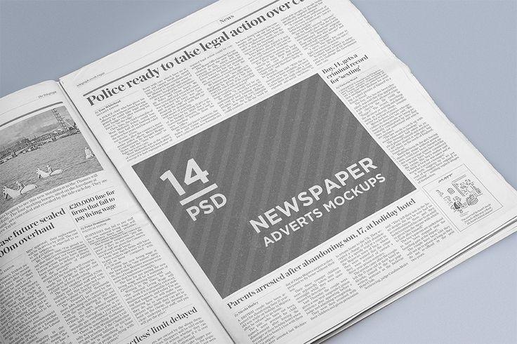 Newspaper Adsverts Mockups Free Psd On Behance  Mockup