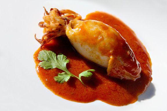 sriracha sauce stuffed calamari recipe