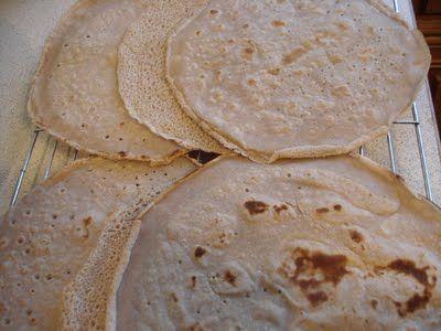 Gluten Free Buckwheat Wraps GF: 2 Cups Buckwheat Flour 4 Cups Water Olive Oil Salt
