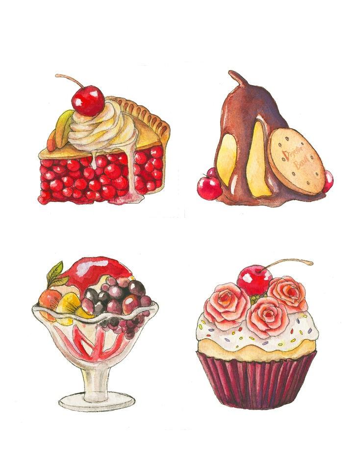 17 Best images about Desserts illustration on Pinterest ...