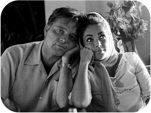 Richard Burton and Elisabeth Taylor