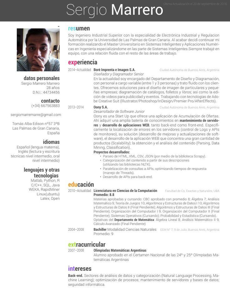 CV Overleaf Desarrollo de software, Desarrollo de