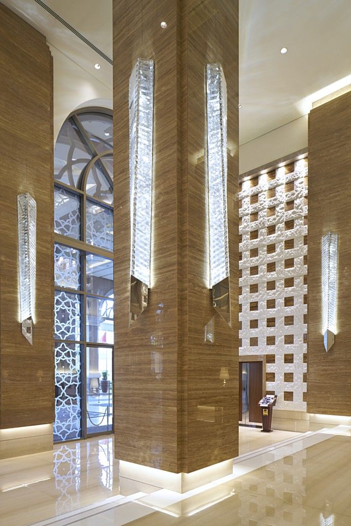 Kempinski hotel mall of the emirates lasvit hotel Interior columns design ideas