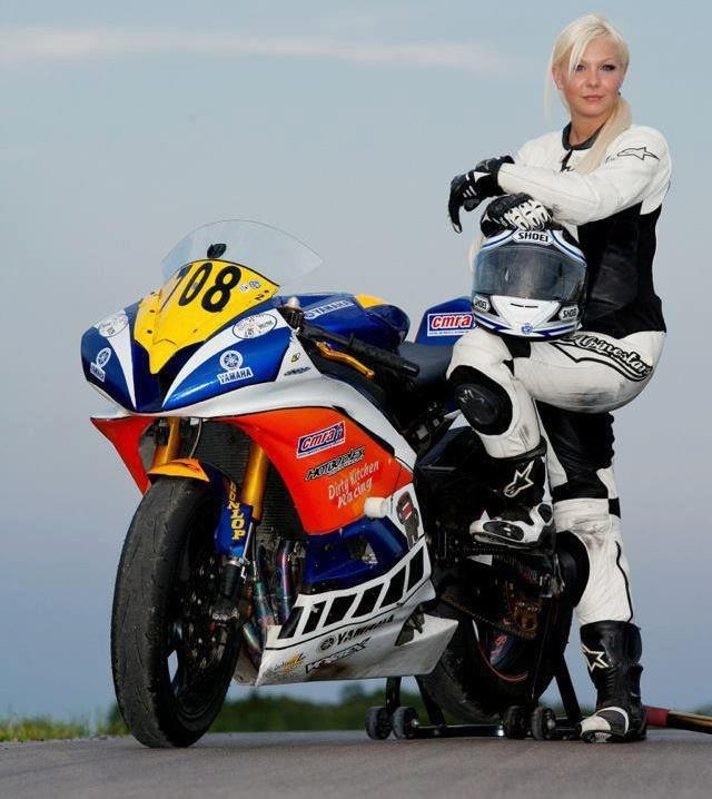 A salute to all the beautiful female motorcyclists! Woman who ride awesome!