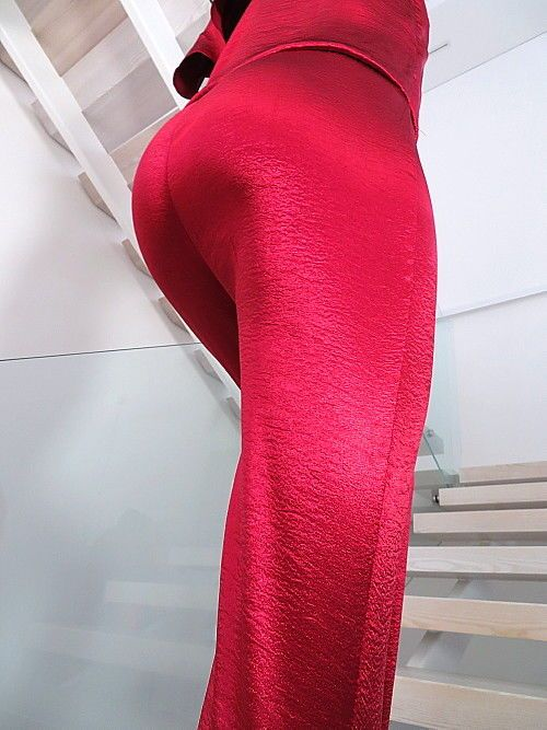 JUMPSUIT ROT HOSE DAMEN OVERALL NEU 2018 STERTCH KLEID U34 SEXY RED CATSUIT L