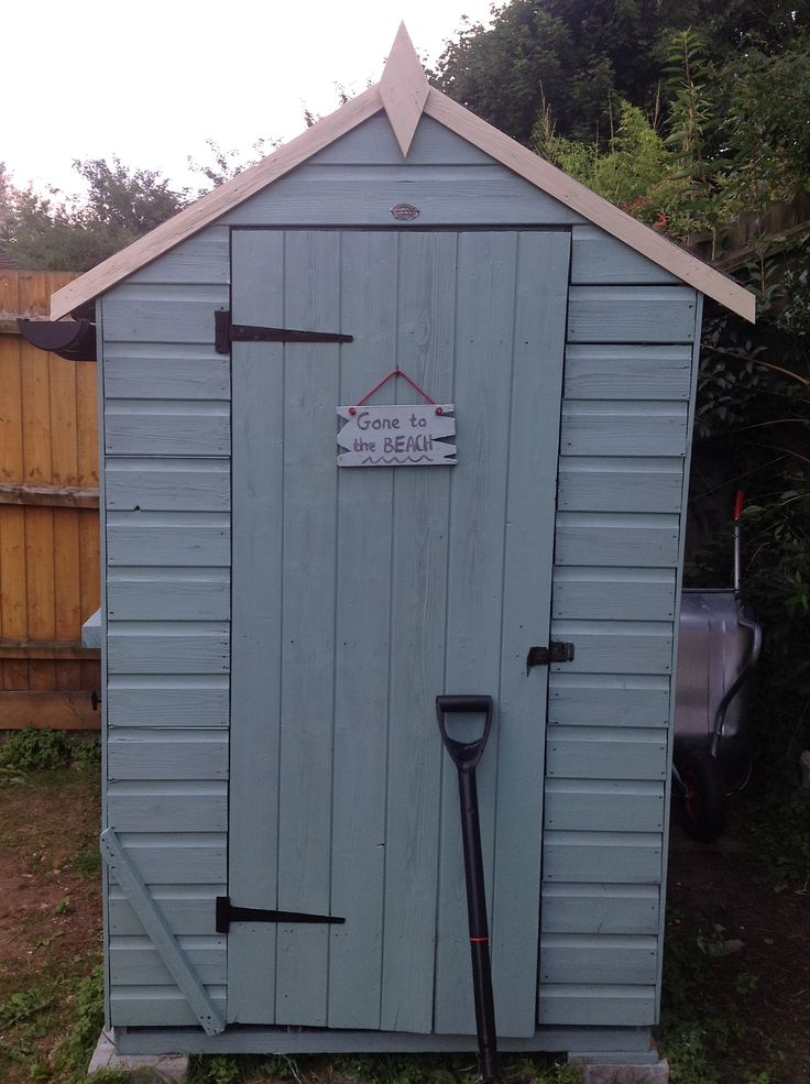 Our newly painted shed. We did it!