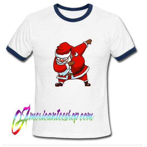 Dab Santa Claus Christmas Ringer Shirt