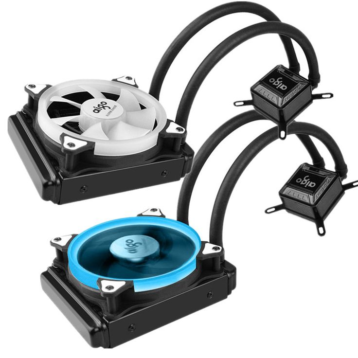 Water Cooler Radiator For Computer CPU Water Cooling With LED Ring 4pin 120mm PWM Fan And Aluminum Heatsink Liquid Cooling