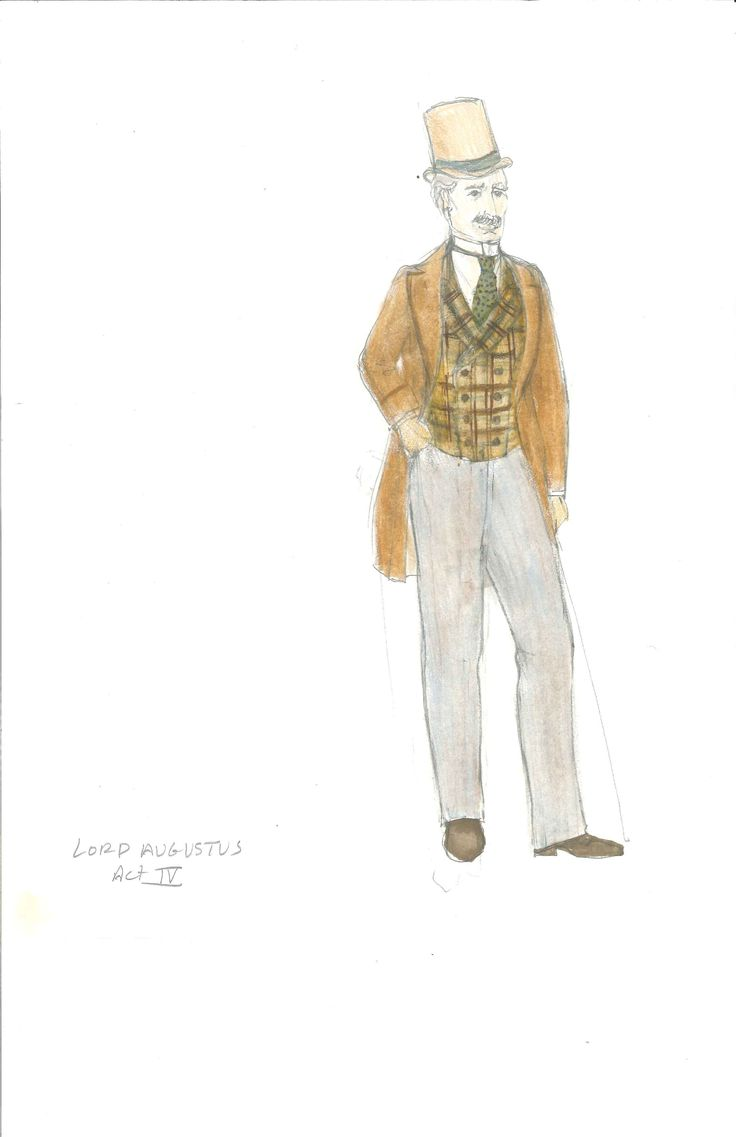 Lord Augustus' Act 4 costume, sketched by Meg Neville
