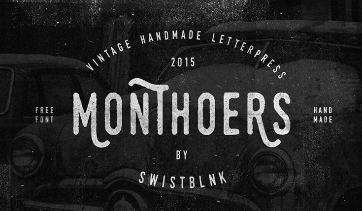 Monthoers Free Font by Agga Swistblnk in Collection of New Free Fonts for February 2015