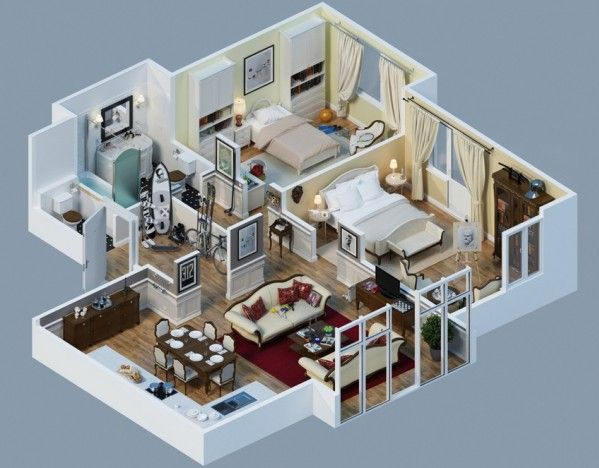 581 best Home* Floor 3D Plans * images on Pinterest Home layouts
