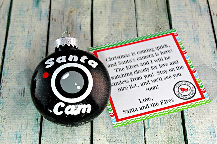 The Santa Spy Cam! A new family tradition to carry out through the holiday season...little ones will keep up the good behavior because they know Santa and his elves are watching!