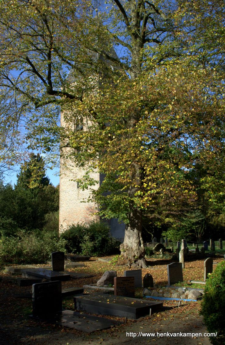 Former church tower and part of the graveyard of Oud Leusden