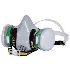 Protección respiratoria.  Respiradores adecuados para protección contra material particulado, uso de químicos y  gases ácidos y orgánicos etc.