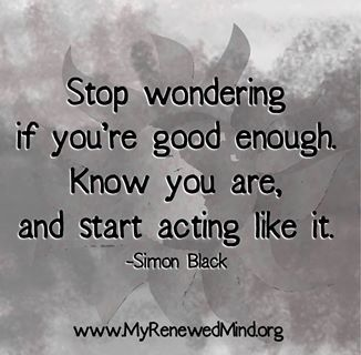 start acting like it...