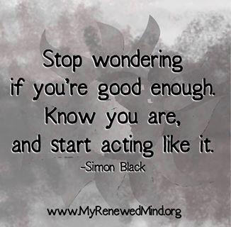 start acting like it...