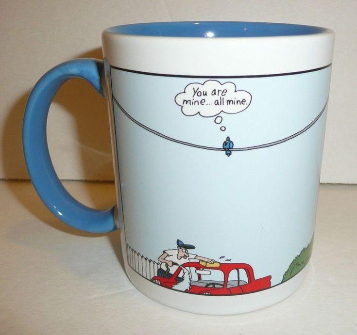 Far Side Coffee Cup / Mug - Crow Bird YOU ARE ALL MINE Target Funny Comic Joke #TheFarSide