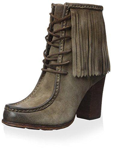 Frye Womens Parker Fringe Short Ankle Boot Grey 11 M US * You can get additional details at the image link.