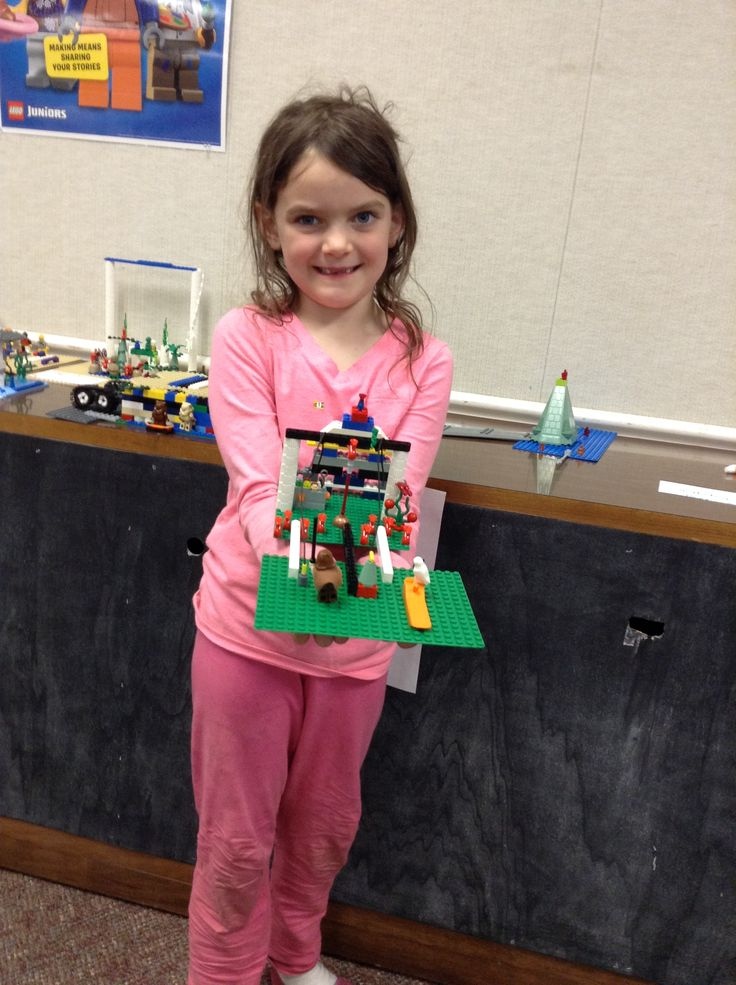 Let's Go Lego! creator with their creation.