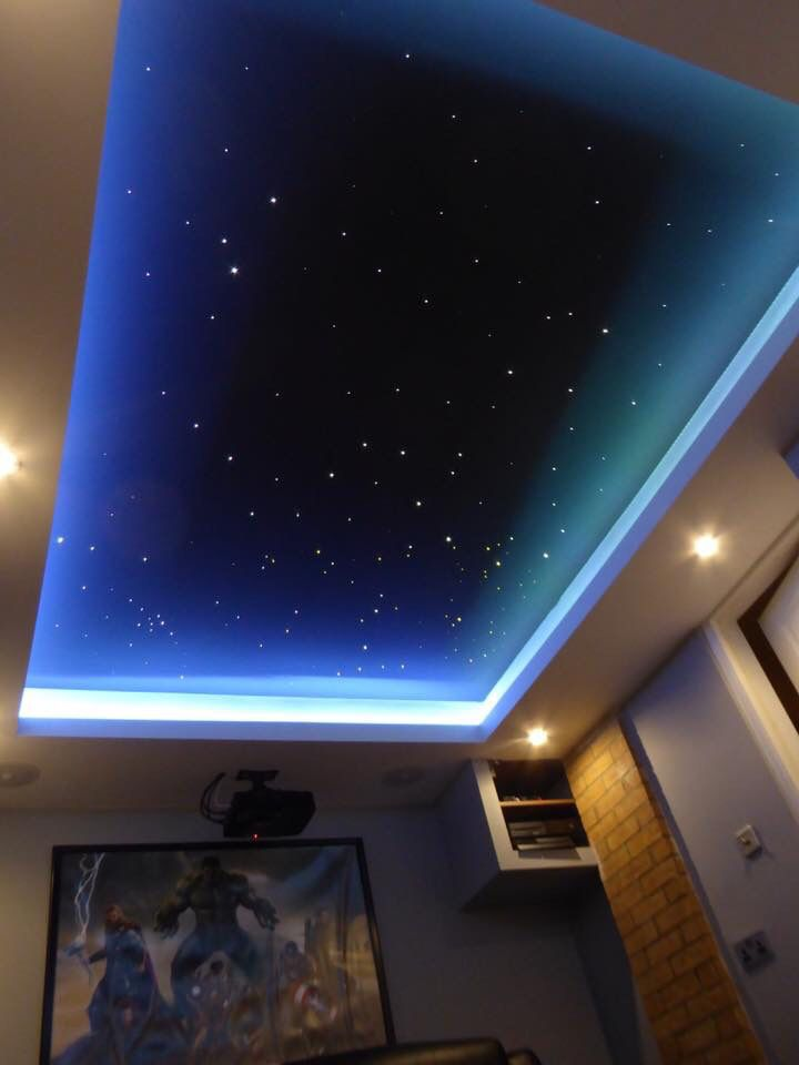 Amazing ceiling idea!! Great for a cinema room, sensory room or kids bedroom. Company called Skyscape set them up in your home in the U.K. Love this i…