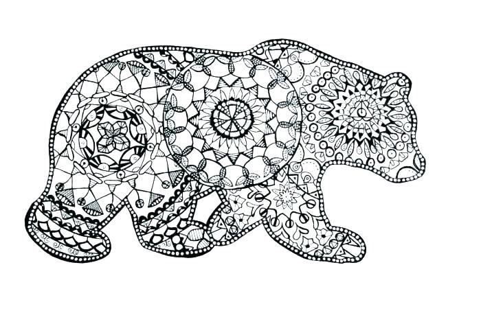 Coloriage Mandala Simple Dessin Mandala Animaux A Imprimer