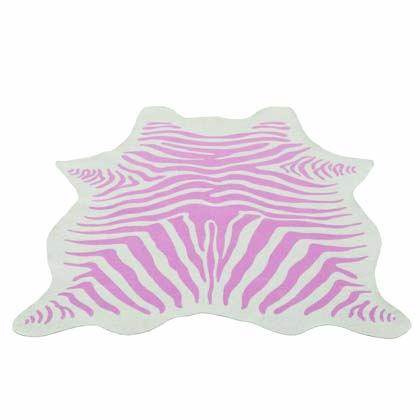 KidsDepot vloerkleed Zebra roze