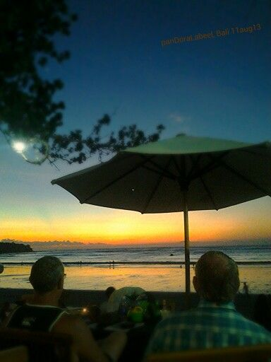 Wait for sunset at Jimbaran, bali