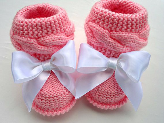 P A T T E R N Baby Booties Baby Shoes Pattern Knitted Baby Booties Knitting…