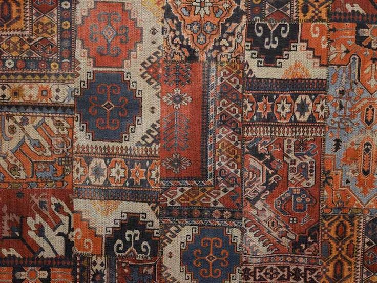 Brockhall Designs Terracotta Istanbul Kilim Fabric