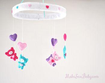 DIY baby nursery mobile ideas.