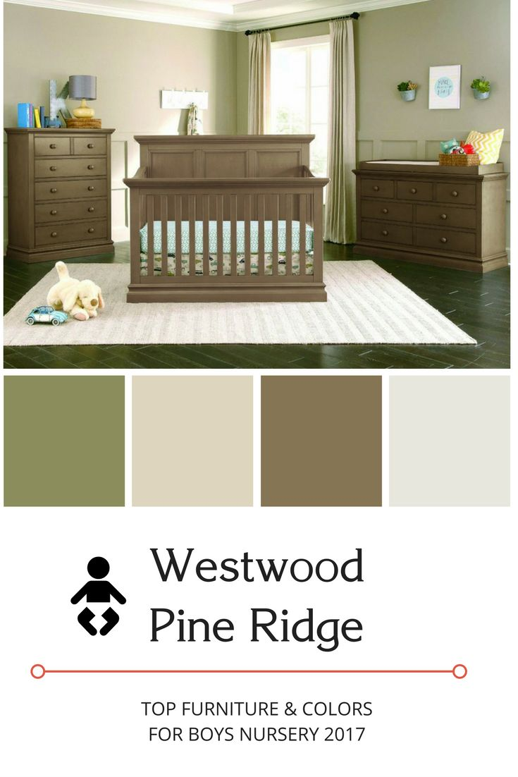 The Top 2017 Nursery Colors For Baby Boys! This Design Includes Green, Gray,