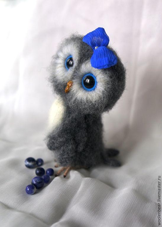 Кокетка - сова, совенок, owl, подарок, игрушка, шерсть, валяная игрушка, игрушка из шерсти, шерсть, подарок