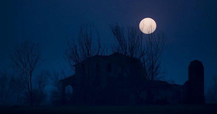 Luna piena. Pic: Graziano Racchelli. #Lomellina #natura #turismo #Pavia #Milano