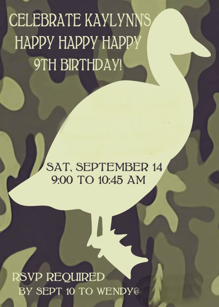 Great, budget friendly ideas for Bethany's Duck Dynasty 9th birthday party.