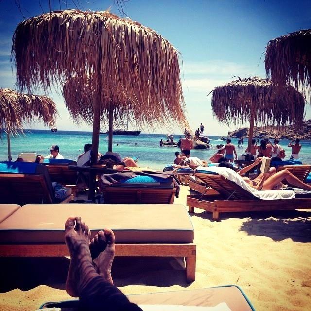 #Summer, stunning paraga beach and a #huge #lineup...   #morning #gmorning #hot #sun #finest #beach #paragabeach #love #beachlife #summertime #Greece #greekisland #cyclades #Mykonos #bestplace #kaluamykonos