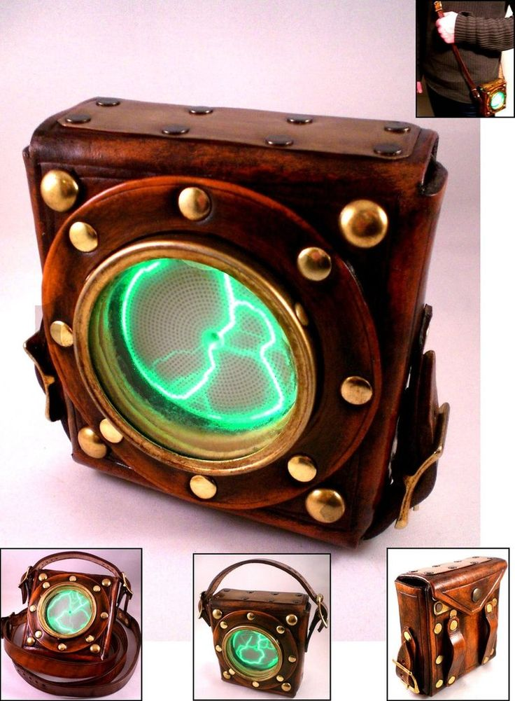 Plasma Pouch. Immediately, not knowing leather craft, I'm thinking: Vintage Wattmeter circa 30s-40-s, Vintage Porthole (lotta fakes out there) & of course the plasma disk:)