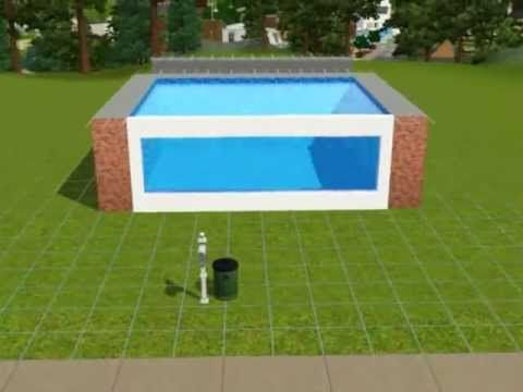 42 best ideas about sims 3 home designs on pinterest for Pool design sims 4