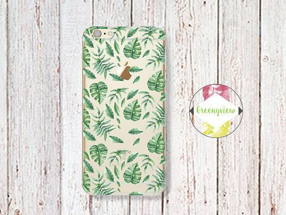 Palm Tree Leaves iPhone 7 6 6S Case by GreenyView on Etsy