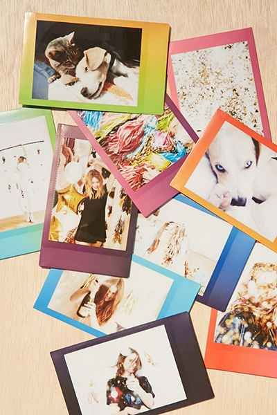 ~~ oooh colors, yes! love the surprise of which color each border will be! ~~ Fujifilm Instax Mini Rainbow Film - Urban Outfitters